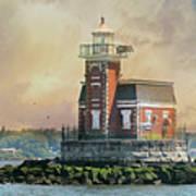 Quaint Stepping Stones Lighthouse Art Print