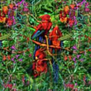 Qualia's Parrots Art Print