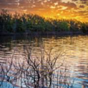 Quanah Parker Lake Sunrise Art Print