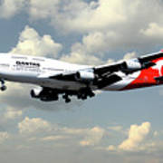 Quantas Boeing 747 Art Print