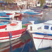 Quay On The Island Of Crete Art Print