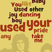 Queen. Can You Order The Lyrics? Dreamers Ball. Art Print