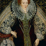Queen Elizabeth I Art Print by John the Younger Bettes