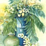 Queen Emma In Blue Vase Art Print