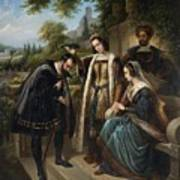 Queen Isabella And Columbus Henry Nelson Oneil Art Print