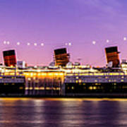 Queen Mary At Dusk_pano Art Print
