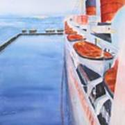 Queen Mary From The Bridge Art Print
