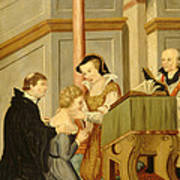 Queen Mary I Curing Subject With Royal Art Print