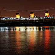Queen Mary Panorama  Art Print