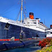 Queen Mary Ship Art Print