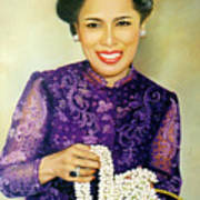 Queen Sirikit2 Art Print