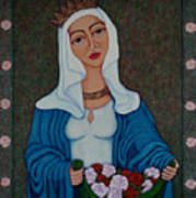 Queen St Isabel - The Miracle Of The Roses Art Print