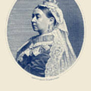 Queen Victoria Engraving - Her Majesty The Queen Art Print
