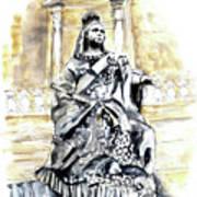 Queen Victoria In Valletta Art Print