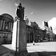 queen victoria statue and Birmingham council house victoria square UK Art Print