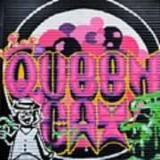 Queens Cat Mural Art Print