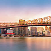 Queensboro Bridge At Sunset Art Print