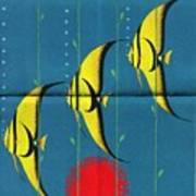 Queensland Great Barrier Reef - Vintage Poster Folded Art Print