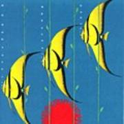 Queensland Great Barrier Reef - Restored Vintage Poster Art Print