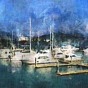 Queensland Marina Art Print
