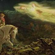 Quest For The Holy Grail Print by Arthur Hughes