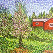 Quick Blossoms, New Grass Art Print