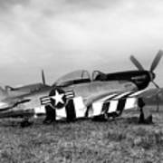 Quick Silver P-51 Mustang Art Print by Peter Chilelli