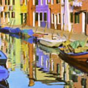 Quiet Waterway Reflections Art Print