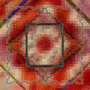Quilt Block Transformed Art Print