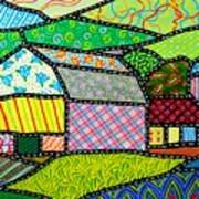 Quilted Bath County Barn Art Print