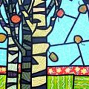 Quilted Birch Garden Art Print