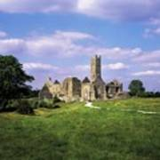 Quin Abbey, Quin, Co Clare, Ireland Art Print by The Irish Image Collection