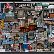 Quincy, Il Collage Art Print