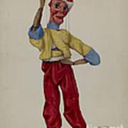 """""""sinbad"""" Marionette Art Print"""