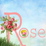 R For Rose Art Print