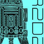 R2d2 - Star Wars Art - Blue Art Print