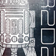R2d2 - Star Wars Art - Space Art Print