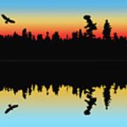 Rabbit Blanket Lake Art Print