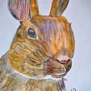 Rabbit Watercolor 15-01 Art Print
