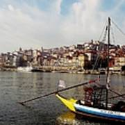 Rabelo Boats On River Douro In Porto 03 Art Print