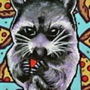 Trash Panda Finds Love Art Print
