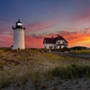 Race Point Light Sunset 2015 Art Print