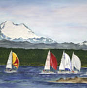 Race Week On Whidbey Island Art Print