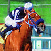 Racehorse And Jockey Art Print