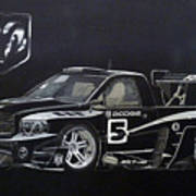 Racing Dodge Pickup Art Print