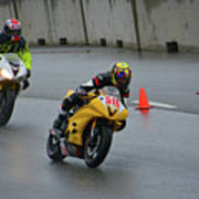 Racing In The Rain Art Print