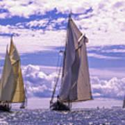 Racing On Open Waters Art Print