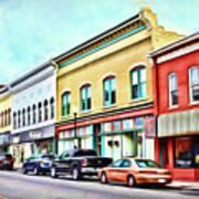 Radford Virginia - Along Main Street Art Print
