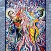 Radha Krishna - Cosmic Dance Art Print