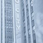 Radio City Cool Toned Art Print